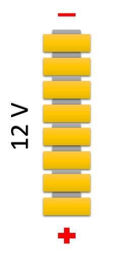 Соединение плоских батарей