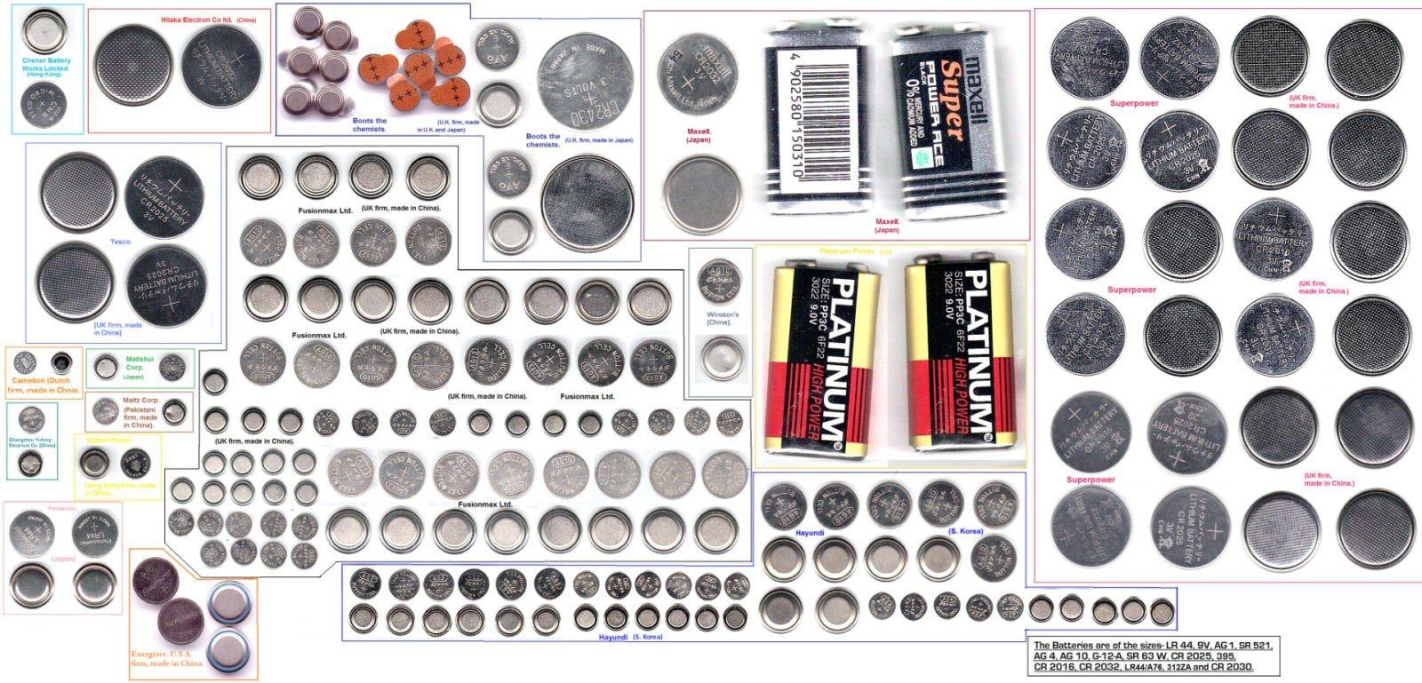 Батарейки таблетки