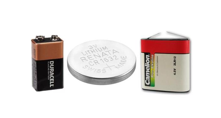 плоские батарейки