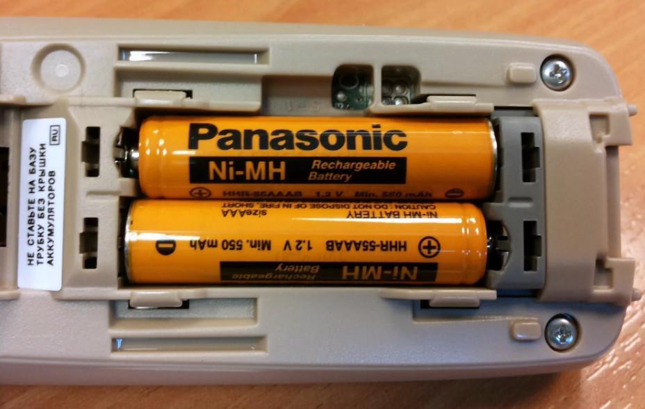какие батарейки нужны в радиотелефон панасоник